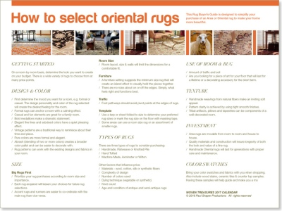 """guide about """"How to Select Oriental Rugs"""""""